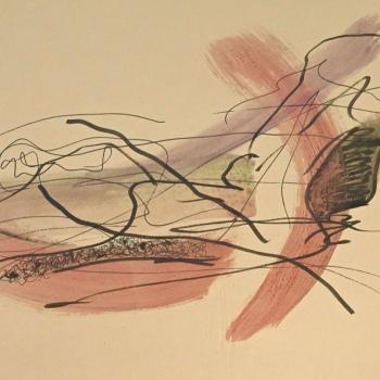 Wege 03, Papier, Mischtecknik, 30cm x 40cm